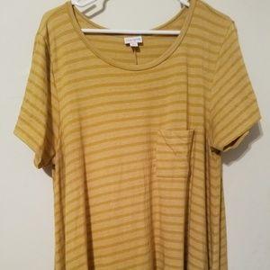 LuLaRoe Carly - XL/1X - Mustard yellow stripes